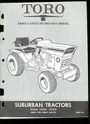 Toro Suburban 55301 55401 Riding Lawn Mower Tractor Ownerand039s Manual Parts List