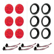 Six 4 Round 10 Led Stop Tail Turn Lights With Grommets And Pigtails