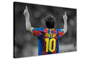 Lionel Messi Football Pictures Framed Canvas Wall Art Poster Sports Prints Deco