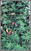 Original Balinese Painting Jungle Life Exquisite 48 H X 28.5 W Signed