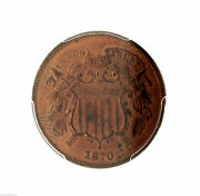 Rare 1870 P 2 Two Cent Piece 2c Pcgs Unc Uncirculated Details Certified Coin