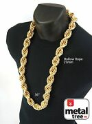 Hip Hop 14k Gold Finish Hollow Chunky Rope Dookie Chain Necklace16 2025 Mm 36