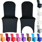 Time To Sparkle Chair Covers Spandex Stretch Seat Cover Dining Wedding White