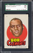 1967 Topps Test Pirates Stickers 6 Roberto Clemente Sgc 96 Mint