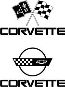 Corvette Decals. Choose Style Size And Color Free Usa S/h