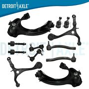 12pc Front Upper And Lower Control Arm Tierod 03-07 Honda Accord Acura Tsx 2.4l