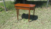 Antique Hepplewhite Bell Flower Inlaid Card Table