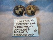 Bmw Factory Genuine Factory Oem Pair 2 Wheel Center Caps C538a-2 Free Shipping