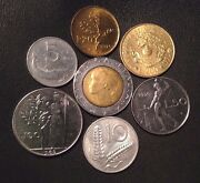 Italy Coin Lot - Full Set Of Pre-euro Italian Coins - Free Shipping