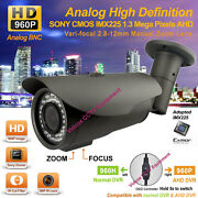 Hd Ahd 1.3mp Sony Exmor 960p Night Vision 2.8-12mm Outdoor Cctv Security Camera