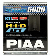 2x Piaa 19985 D1s Alstare 6000k Xenon Hid Lights Bulb Pair Replacement Dual Pack