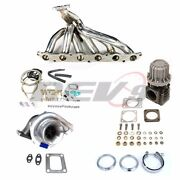 Rev9 86-91 Supra 7mgte T4 Top Mount Stainless Manifold Turbo Charger Kit 550hp