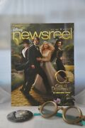 Disney Newsreel Oz The Great And Powerful Castmember Magazine And Oz Glasses And Pin