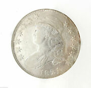 1821 Capped Bust Half Dollar 50c Ngc Ss New York Shipwreck Effect Coin