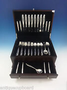 Silver Sculpture By Reed And Barton Sterling Silver Flatware Service 8 Set 49 Pcs