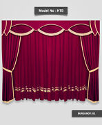 Saaria Home Theater School Stage Event Hall Drapes Velvet Curtains 12'wx8'h Ht-5