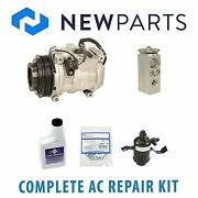 For Mercedes W124 E320 Complete Ac A/c Repair Kit W/ Oem Compressor And Clutch