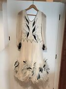 Vintage Ballroom Dancing Gown White Size 14