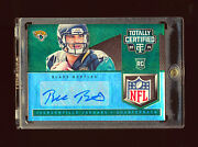 Blake Bortles 2014 Panini Totally Certified Green Nfl Logo Patch Auto Rc D 1/1