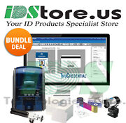 Datacard Sd260 Single Side Complete Photo Id Card Printer System 535500-002