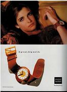 1990 Pop Swatch Watch Stephanie Seymour Magazine Print Ad