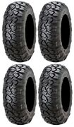 Full Set Of Itp Ultra Cross R Spec 8ply Radial 27x10-12 Atv Tires 4