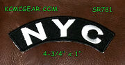 Nyc Embroidered Small Top Rocker Patch Biker Patches New York City
