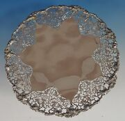 Chased And Pierced Vine By Ehp And Co. English Sterling Silver Cake Plate 0878