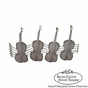 C. Jere Mid Century Metal Wall Sculpture Of Guitars Or Violins