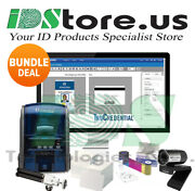 Datacard Sd360 Dual Side Complete Photo Id Card Printer System 506339-001