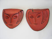 Pair Of Art Deco Pottery Stoneware Wall Lamps Light Objects By Gerd Winter 1930s