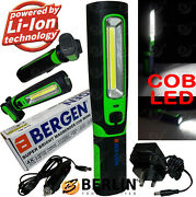 Bergen Cob Led Work Light Torch Li-ion Rechargeable Cordless Inspection Lamp Mag