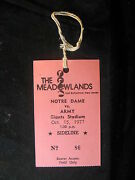 Vintage October 15, 1977 Notre Dame Vs Army Football Giants Stadium Field Pass