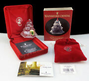 Waterford Crystal 1999 Five Gold Rings 12 Days Xmas Tree Ornament 5th 5 Golden