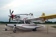 Air Tractor At-802 Fire-fighting Air Boss Airplane Desktop Kiln Wood Model Large
