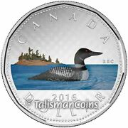 Canada 2016 Big Coins Series Loonie Color 1 5 Oz Pure Silver Proof In Full Ogp