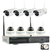 8ch Wireless Home Surveillance Security System Wifi 720p Ip Cameras Complete Kit