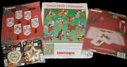 Dimensions Forest Birds Cross Stitch Ornament Kit + Free Santa Banner + 3 Gifts