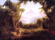 Wonderful Oil Painting The Garden Of Eden Beautiful Landscape Free Shipping Cost