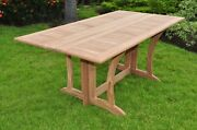 Teak Dining Set Console Table Outdoor Patio Furniture New - Warw Deck