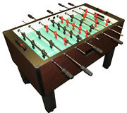 Gold Standard Home Pro Mahogany Foosball Table - Chrome Rods And Black Handles