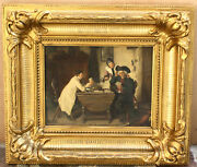 Magnificent 19c German Oil On Board Painting By Hermann Bethke Listed Artist