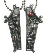 The Nightmare Before Christmas Necklace Set Jack And Sally Coffin Couple