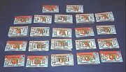 Lot Of 111 Florida Novelty Souvenir Bicycle License Plates With Assorted Phrases