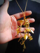Graphic Vector Flowergraphic Vector Flower Necklace In Brass By Hand Sawing