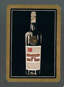 Swap Playing Cards 1 Vint Wide Advt Seager's Old Dry Gin Drink Bottle D123