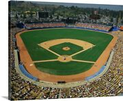 Dodger Stadium Canvas Wall Art Print Baseball Home Decor