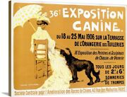 Exposition Canine De Briard Vintage Canvas Wall Art Print Vintage Advertising