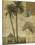 Voyage To Africa Canvas Wall Art Print, Zebra Home Decor