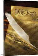 Constitution Of The United States Of Canvas Wall Art Print, Photography Home
